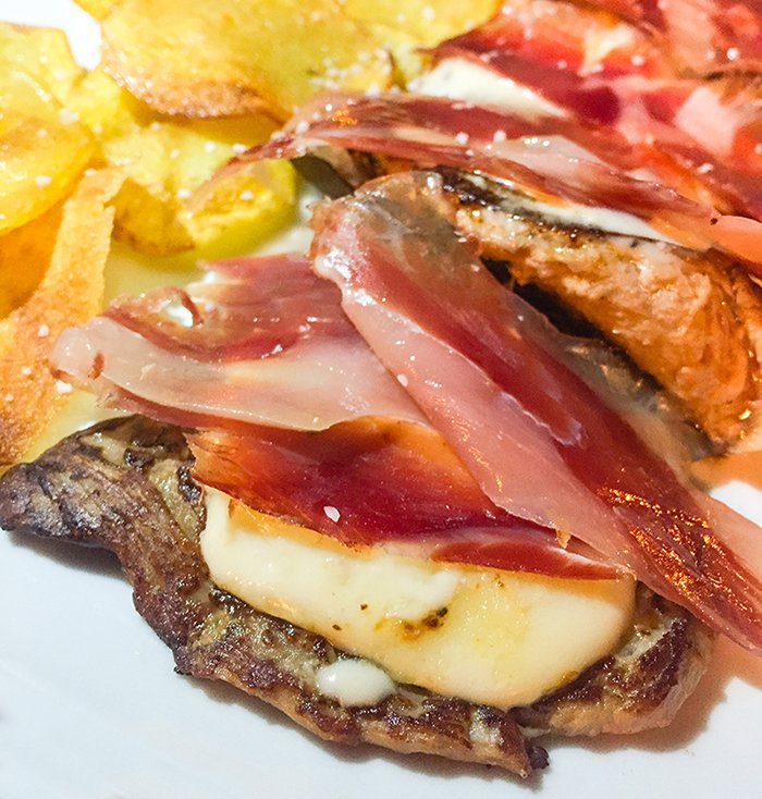 Sirloin with Manchego Cheese and Iberian Ham
