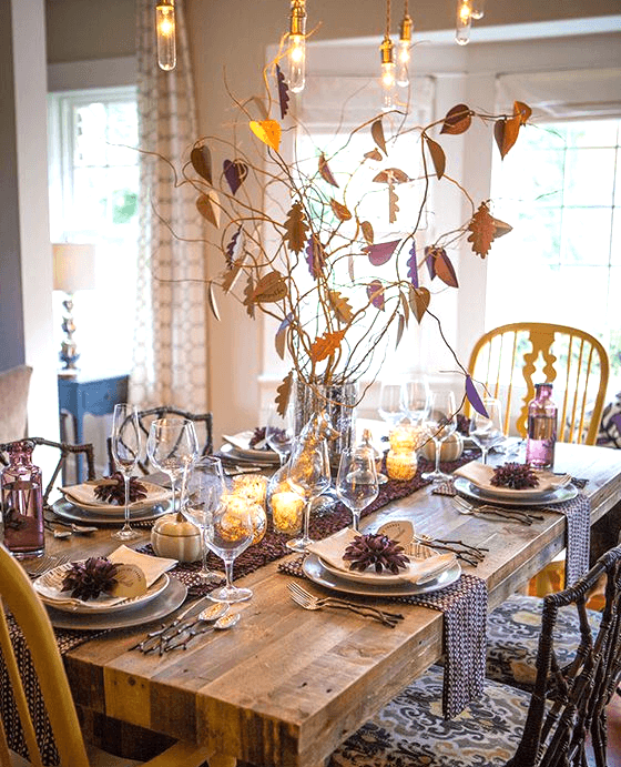 Thankful tree centerpiece thanksgiving table | Inspiration for Thanksgiving Decoration