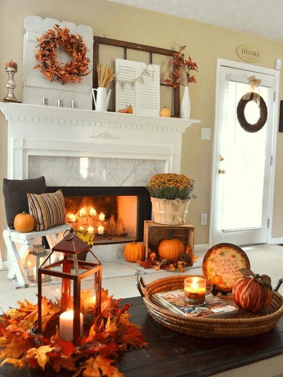 Thanksgiving mantel | Thanksgiving Decoration