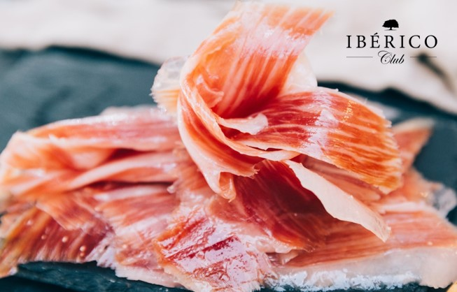 Buy sliced jamon iberico in the U.S. | Plate with Jamon Iberico