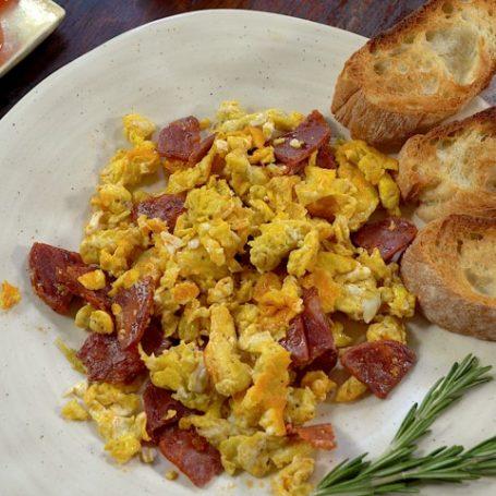 Scrambled eggs & Chorizo Recipe Video