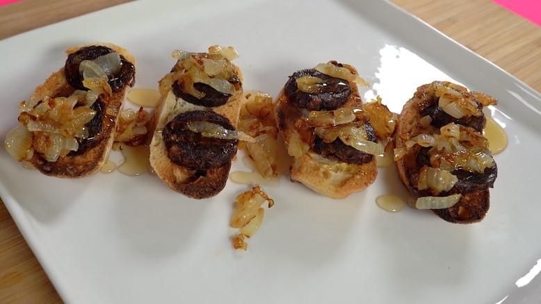 Video   blood sausave & Onion recipe