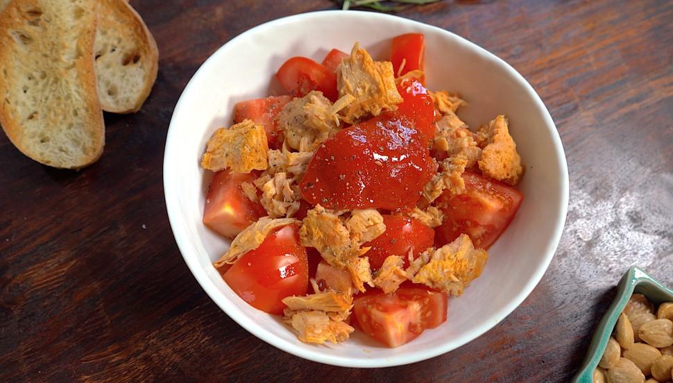 Bonito del norte tomate & piquillo recipe