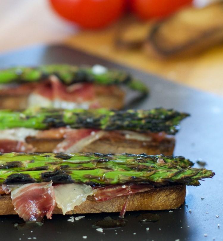 Grilled Asparagus and Jamon Ibérico de Bellota Toast Recipe