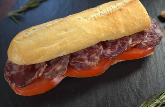Bocadillo Sandwich with Salchichon Tomato & More
