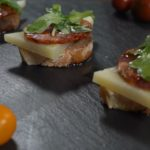 Chorizo Ibérico de Bellota and Manchego Cheese toast