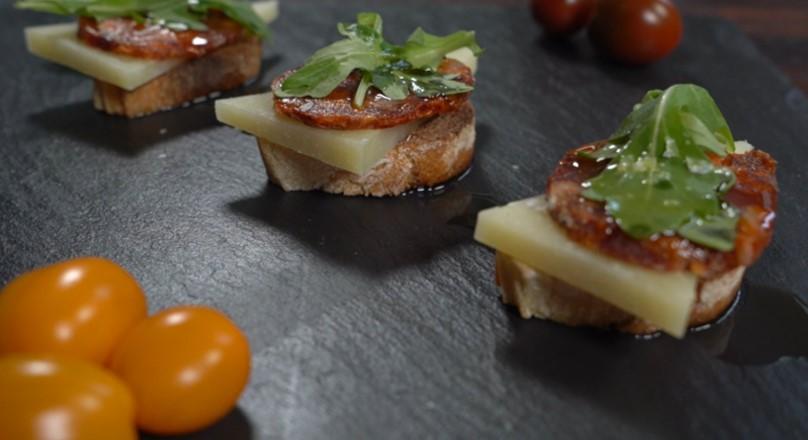 Recipe - Chorizo Manchego toast