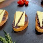 Manchego Cheese with Olive Spread Spanish Tapa