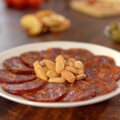 Chorizo Ibérico de Bellota plate with Picos camperos bread sticks