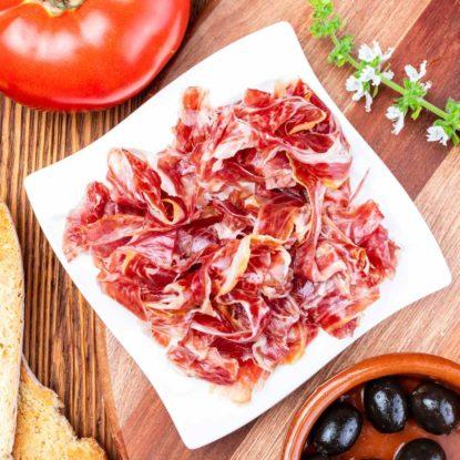 Jamón 100% Ibérico de Bellota sliced by hand