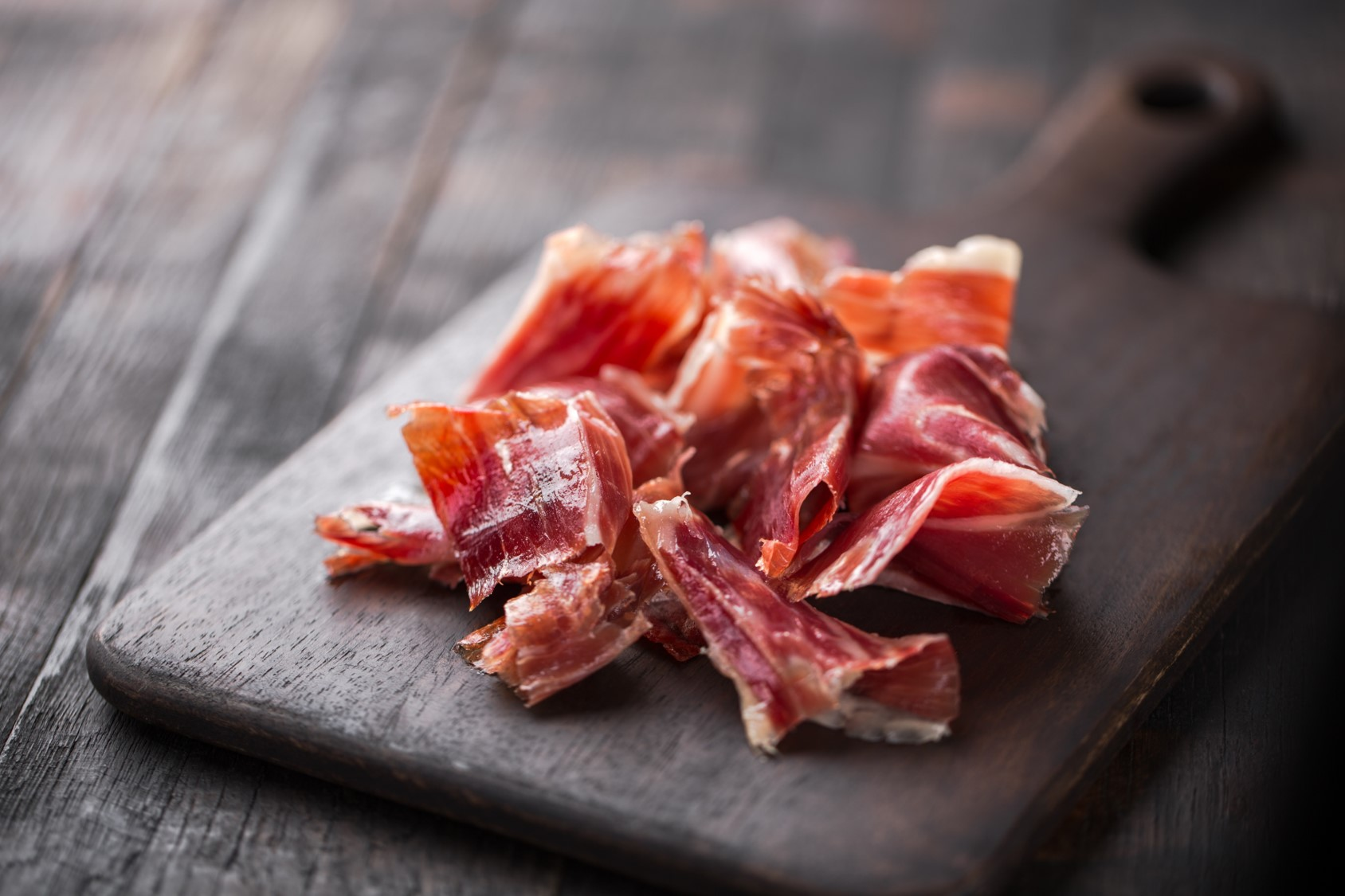 Jamon in wooden table