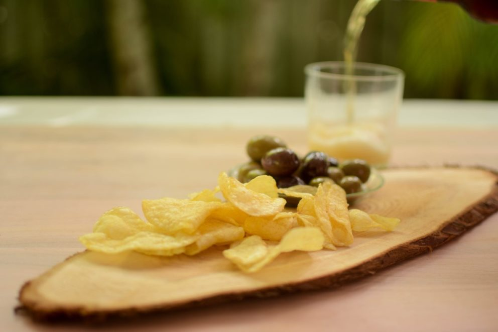 Gourmet Potato Chips with Olives