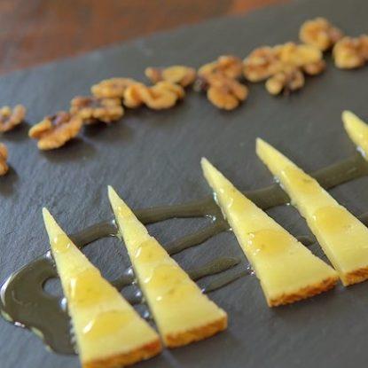 Manchego Cheese with Orange blossom honey Spanish Tapa