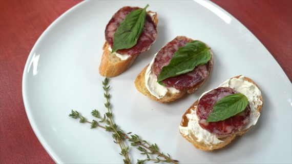 Salchichon cream cheese basil recipe