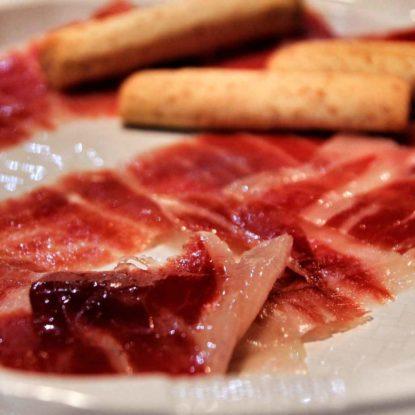 Plate of delicious Jamón Ibérico de Bellota