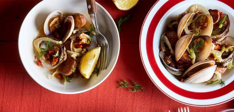 Clams with Chorizo Ibérico