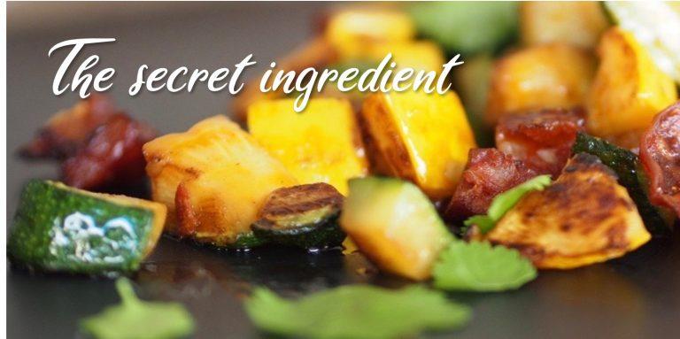 chorizo and sauteed vegetables