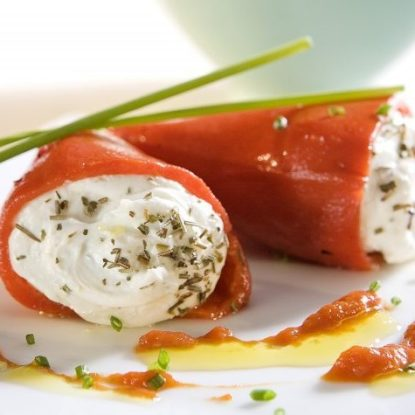 Piquillo Peppers with goat cheese
