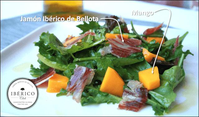 Jamón Ibérico Mango salad [Beautiful, Simple, Delicious]