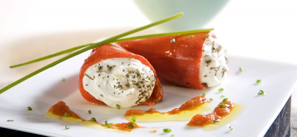 goat cheese-stuffed piquillo peppers