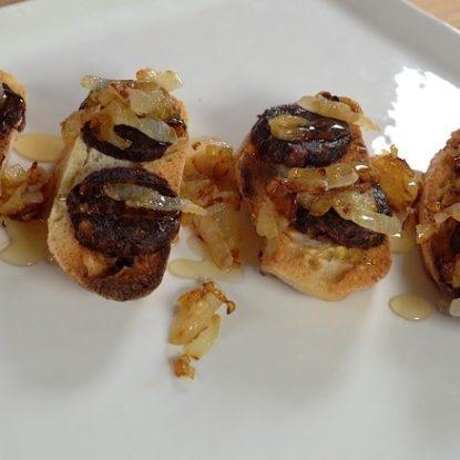 Morcilla with Onion and orange blossom honey