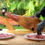 Step by step guide. How to carve a Whole Jamón Ibérico de Bellota from Spain