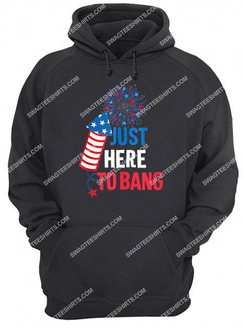 4th of july i'm just here to bang usa flag sunglasses hoodie 1