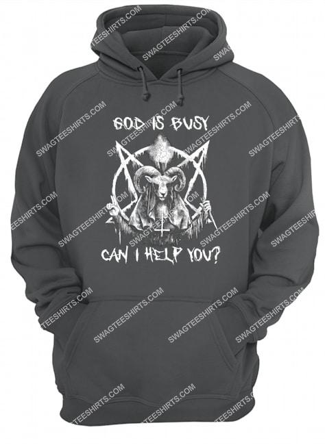 God is busy can i help you satanic halloween hoodie 1