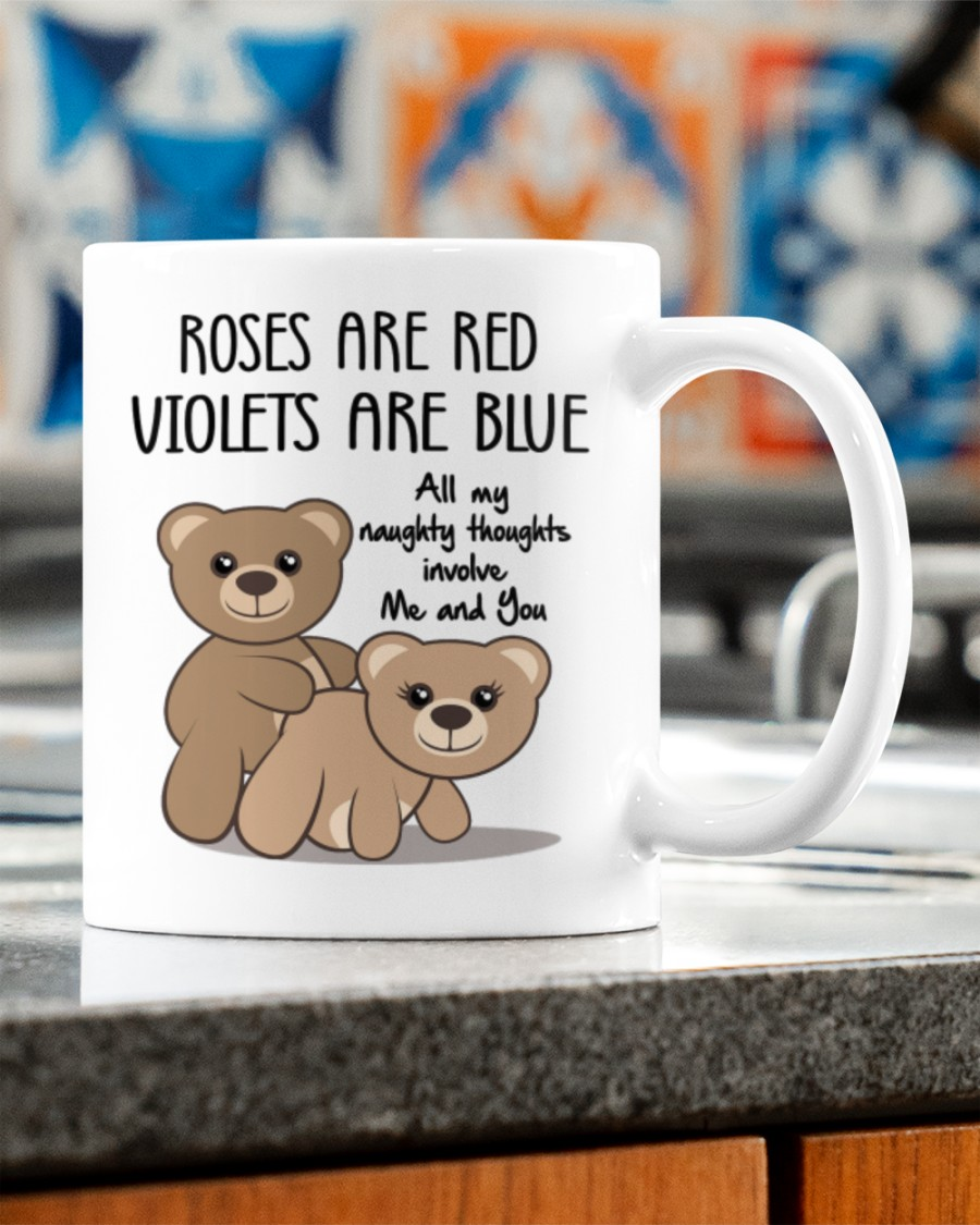 all my naughty thoughts involve me and you happy valentine's day mug 3
