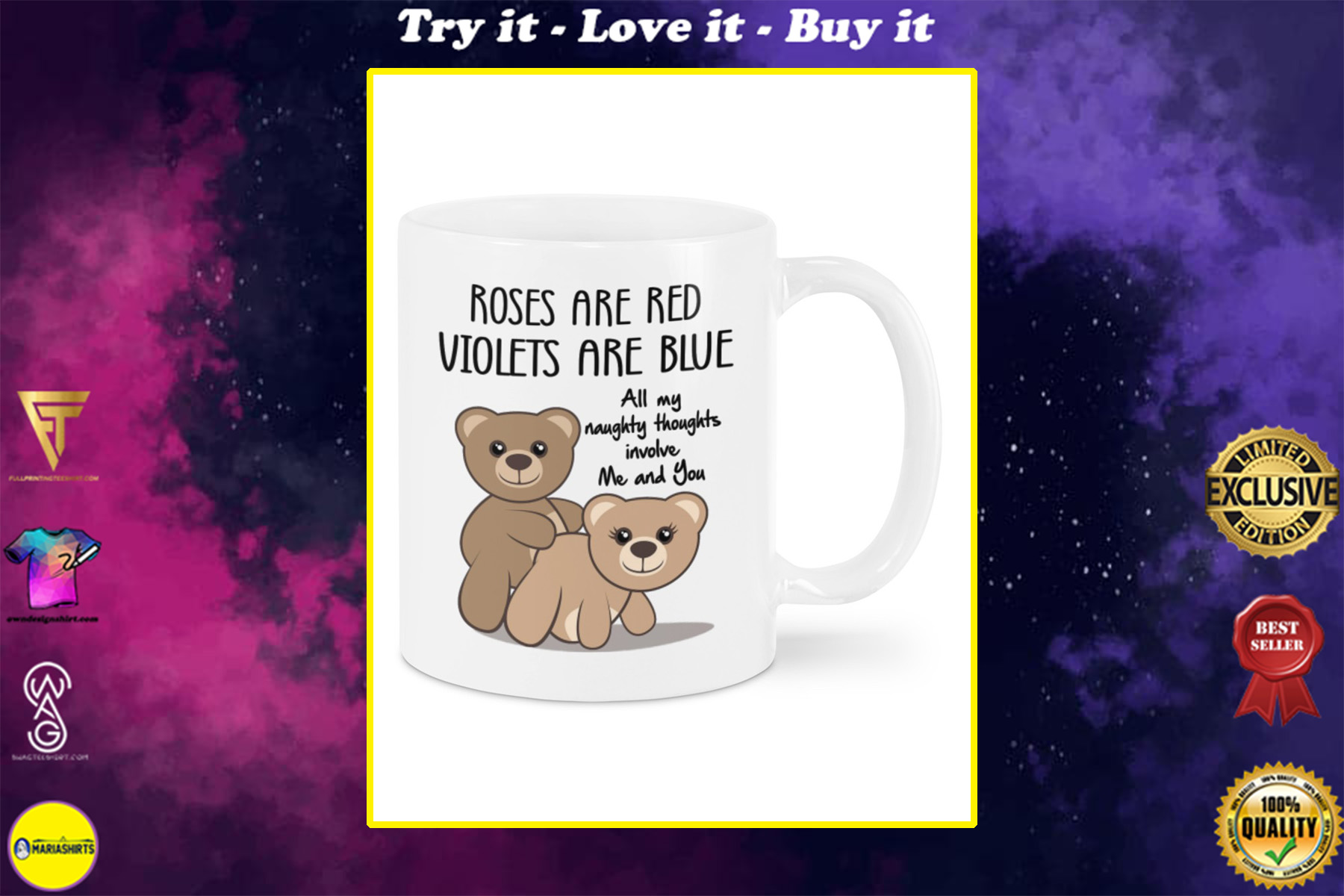 all my naughty thoughts involve me and you happy valentine's day mug