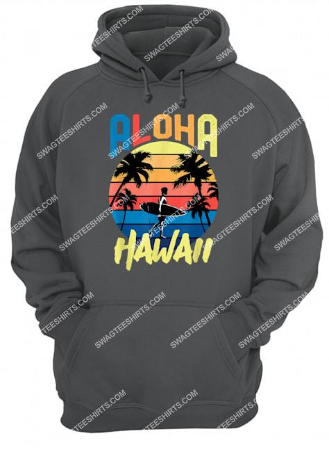 aloha hawaii hawaiian island retro vintage 1980s surf hoodie 1
