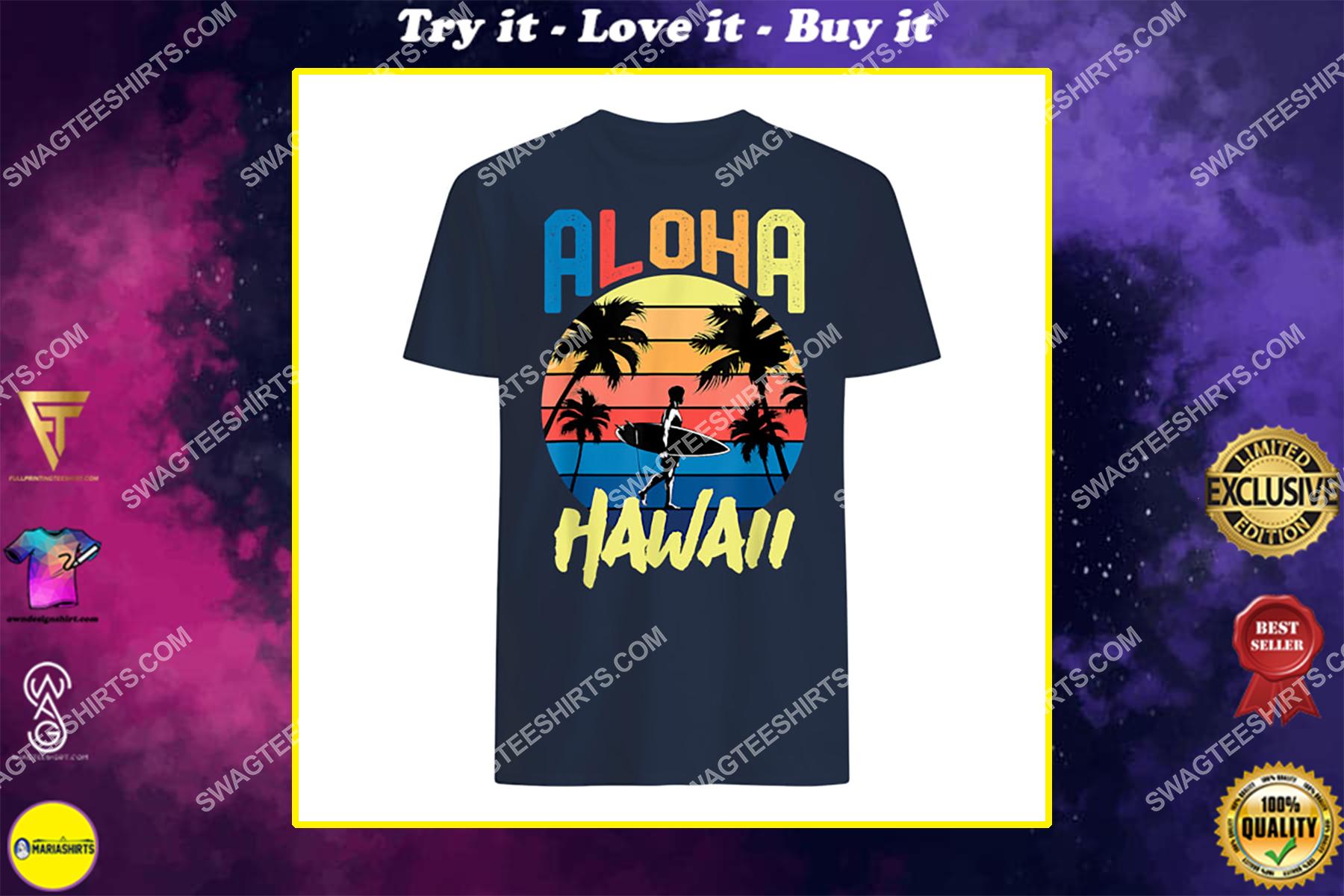 aloha hawaii hawaiian island retro vintage 1980s surf shirt