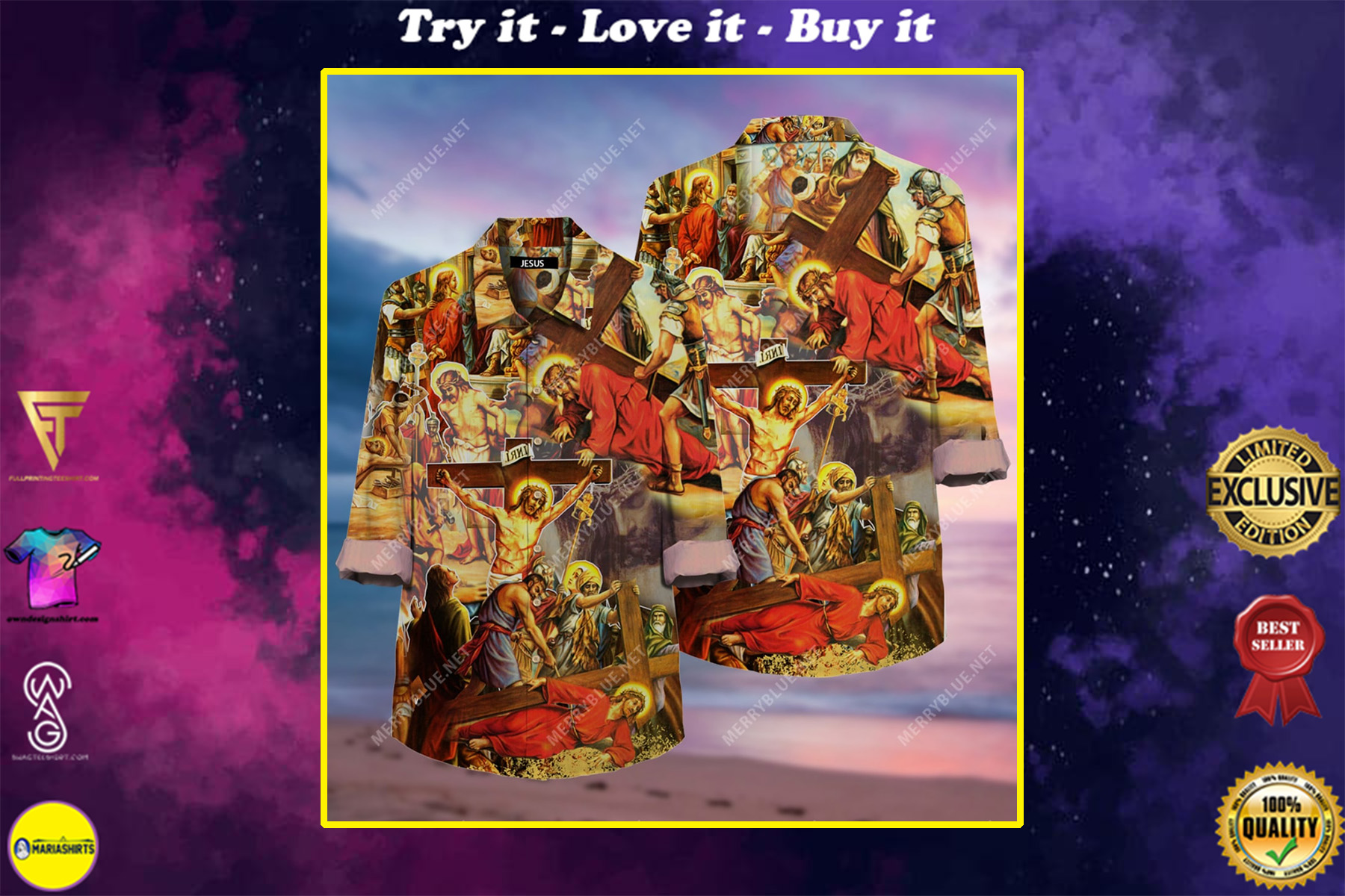 always put your hope in Jesus all over printed hawaiian shirt