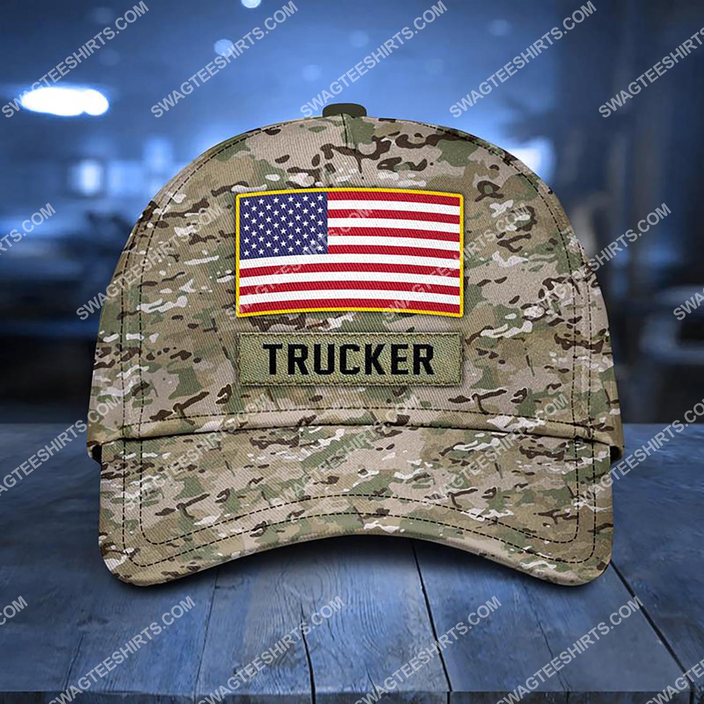 america flag and trucker camo all over printed classic cap 3 - Copy (2)