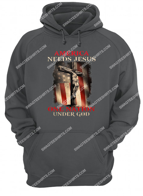 america needs Jesus one nation under God for memorial day hoodie 1
