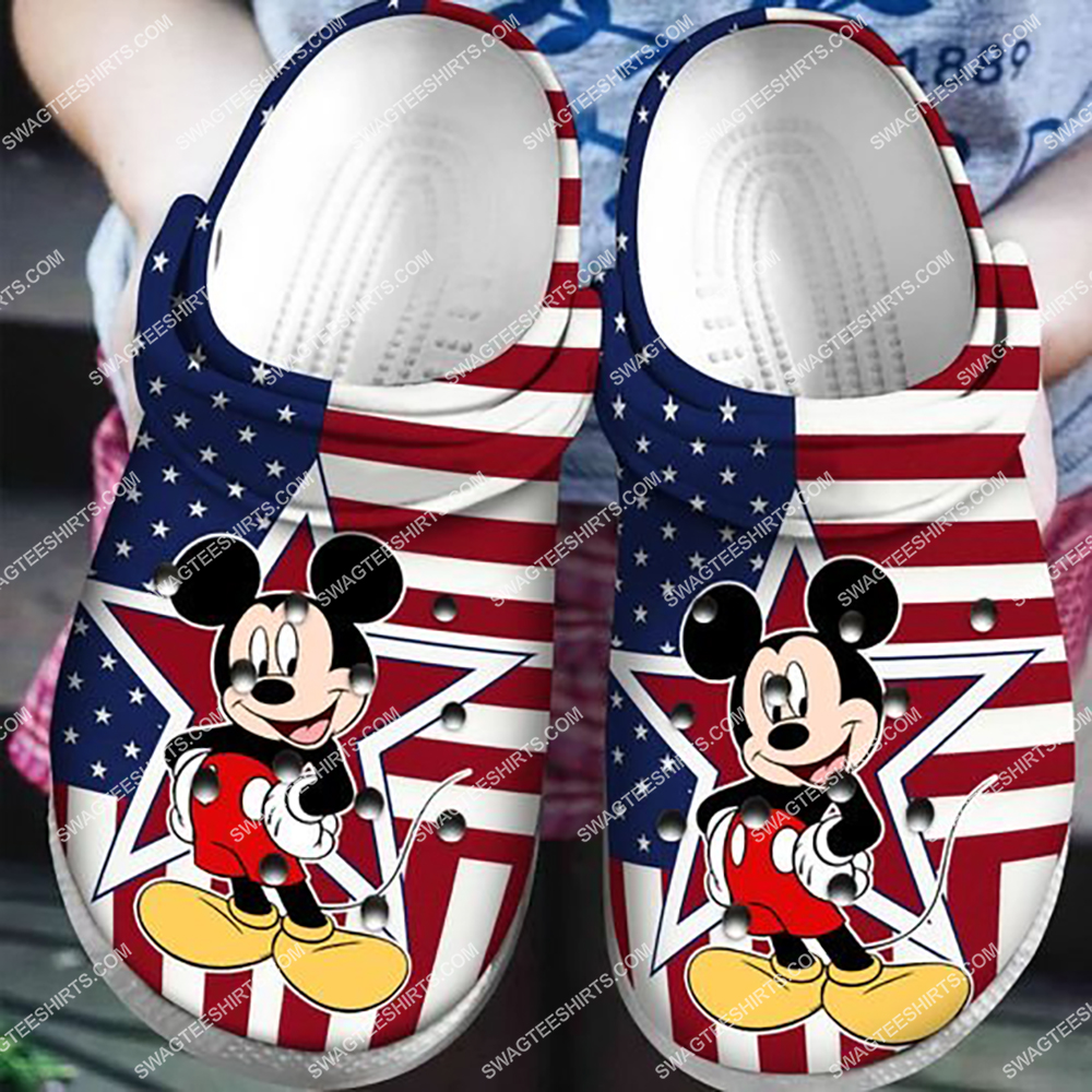 american flag mickey mouse crocband clog 1 - Copy (2)