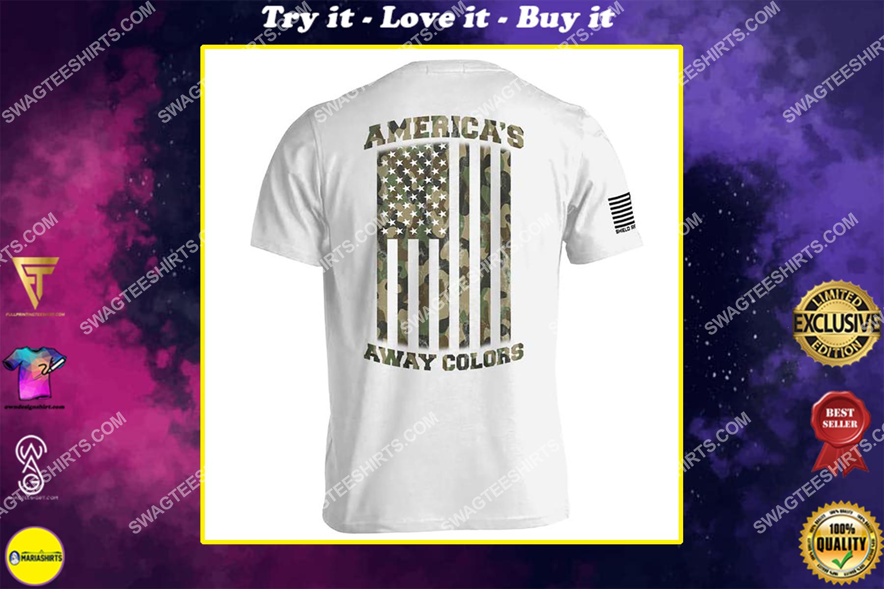 american flag camo americas away colors political shirt