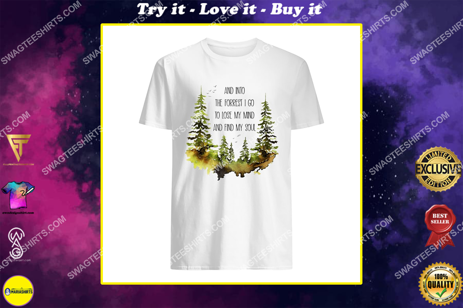 and into the forest i go to lose my mind and find my soul for camping shirt