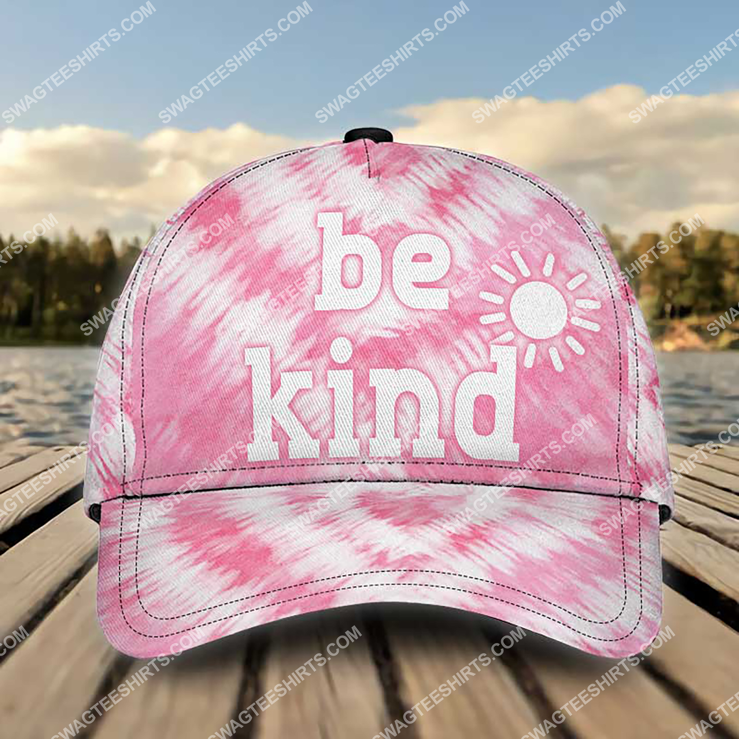 be kind tie-dye colorful all over printed classic cap 3 - Copy (3)