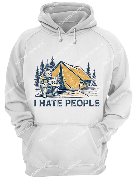 bear i hate camping for camper hoodie 1