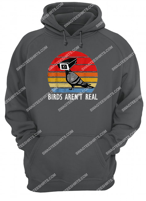birds are not real retro funny bird watching spies hoodie 1