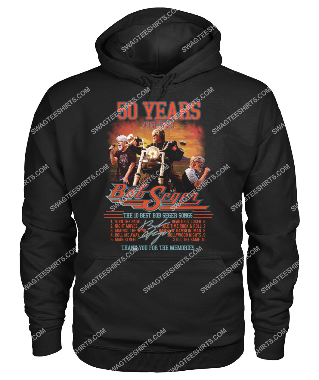 bob saget 50 years thank you for memories signature hoodie 1