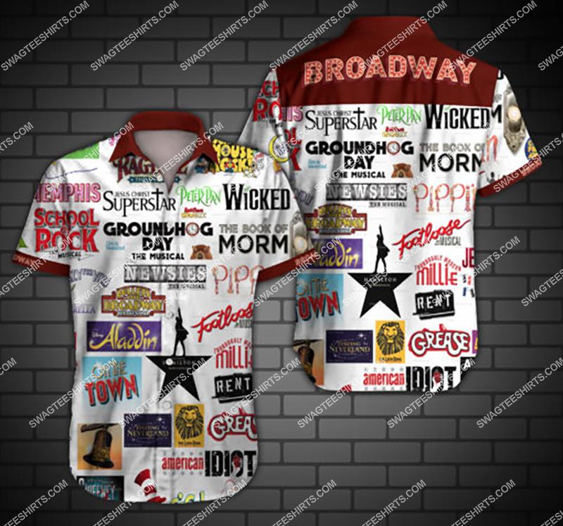 broadway all over print hawaiian shirt 2 - Copy
