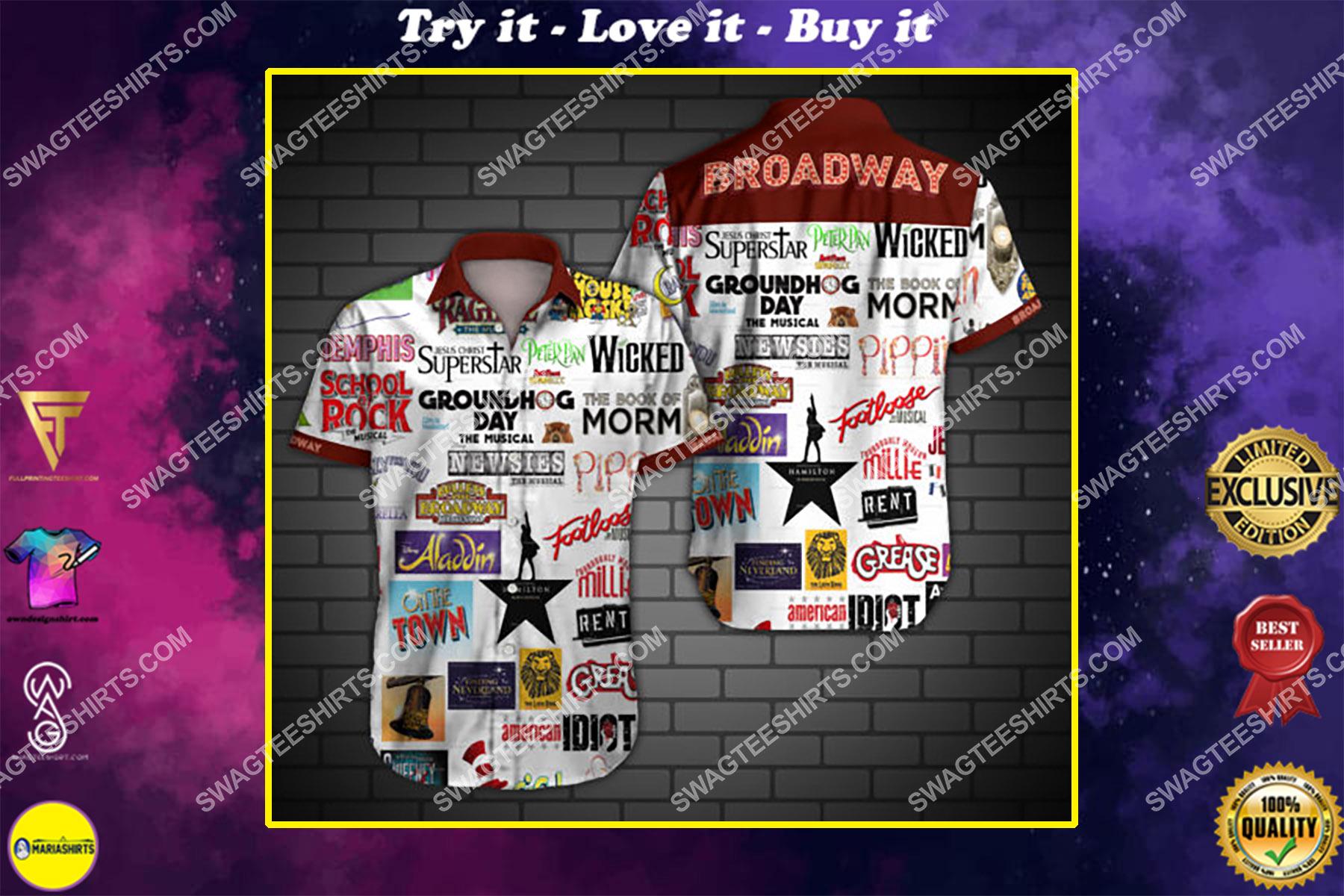 broadway all over print hawaiian shirt