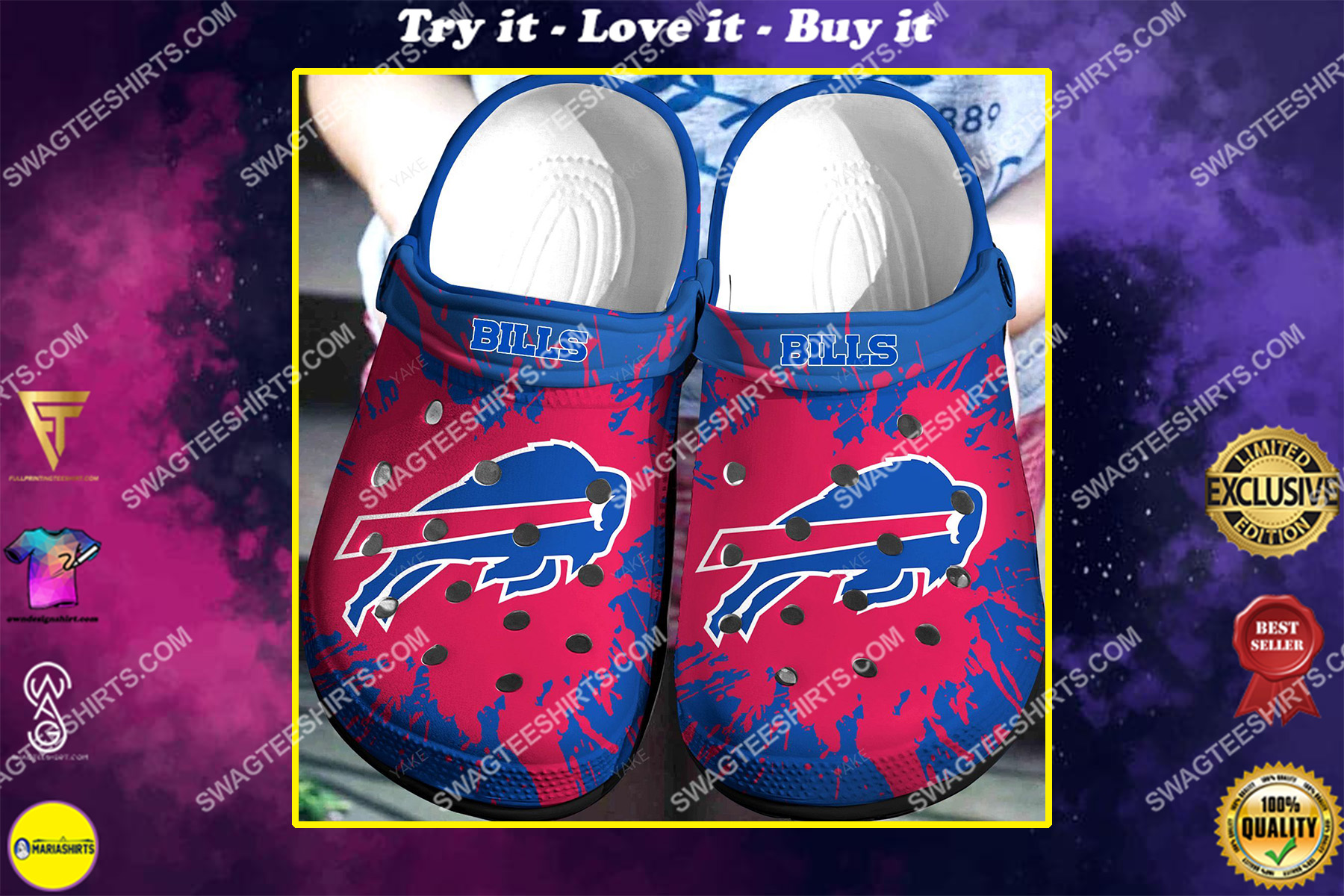 buffalo bills all over printed crocs crocband clog