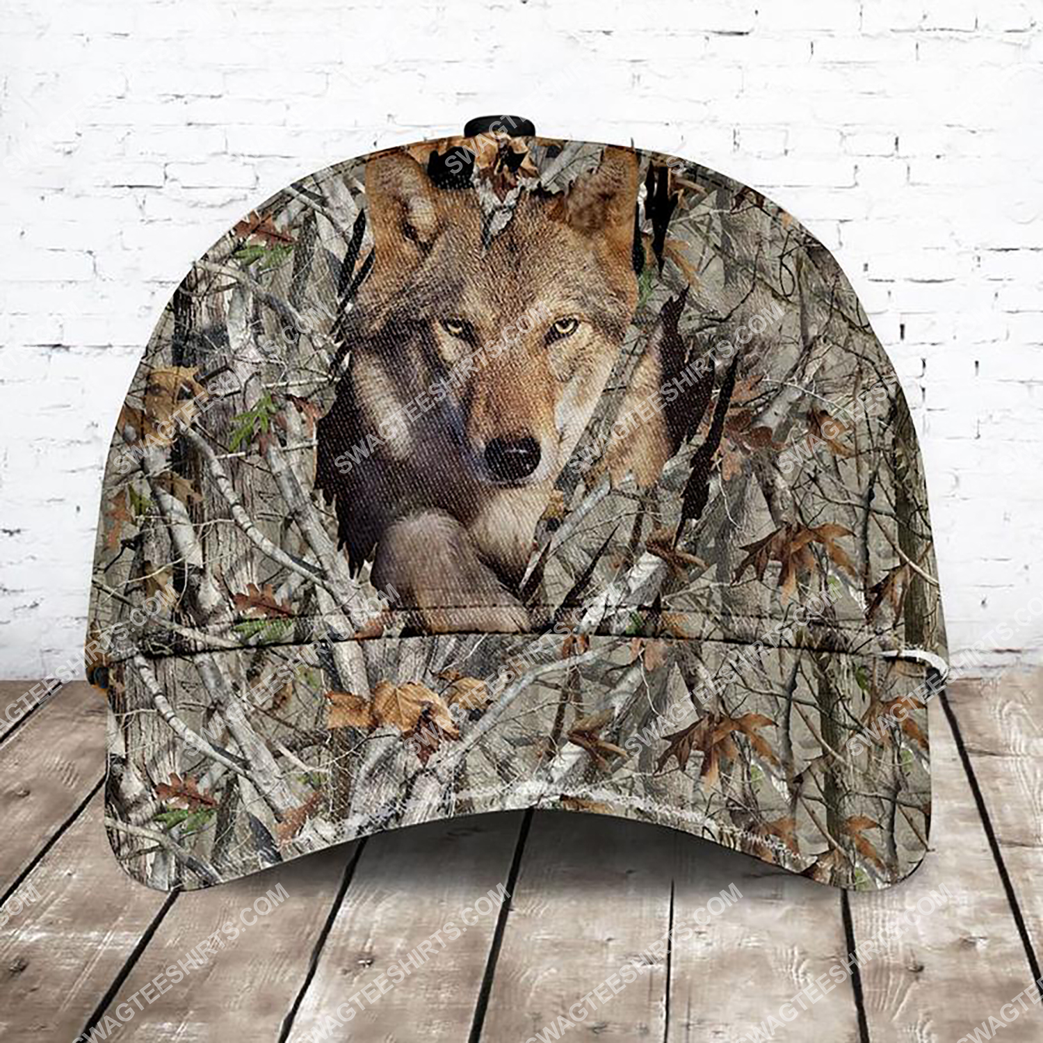 camo version wolf all over printed classic cap 3 - Copy (2)