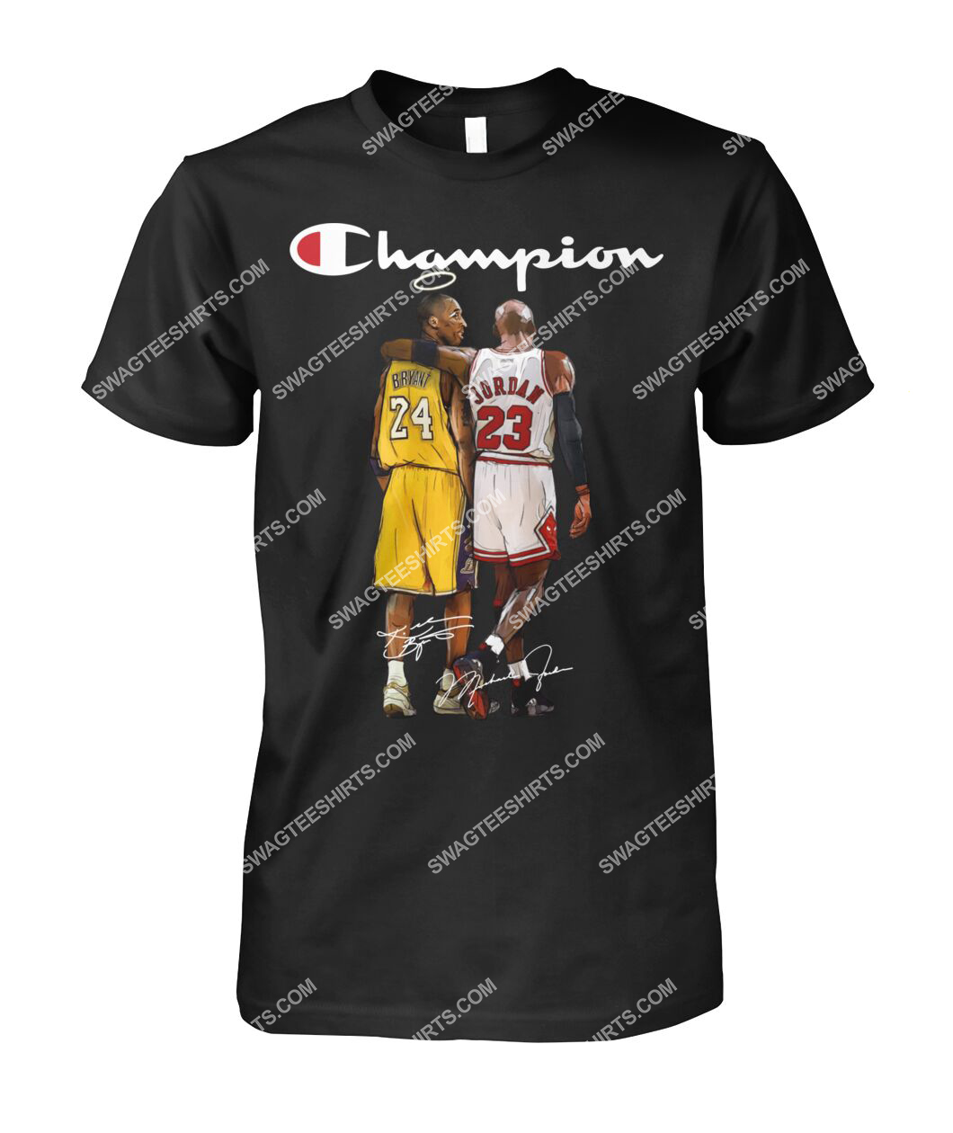 champion kobe bryant and michael jordan signature tshirt 1