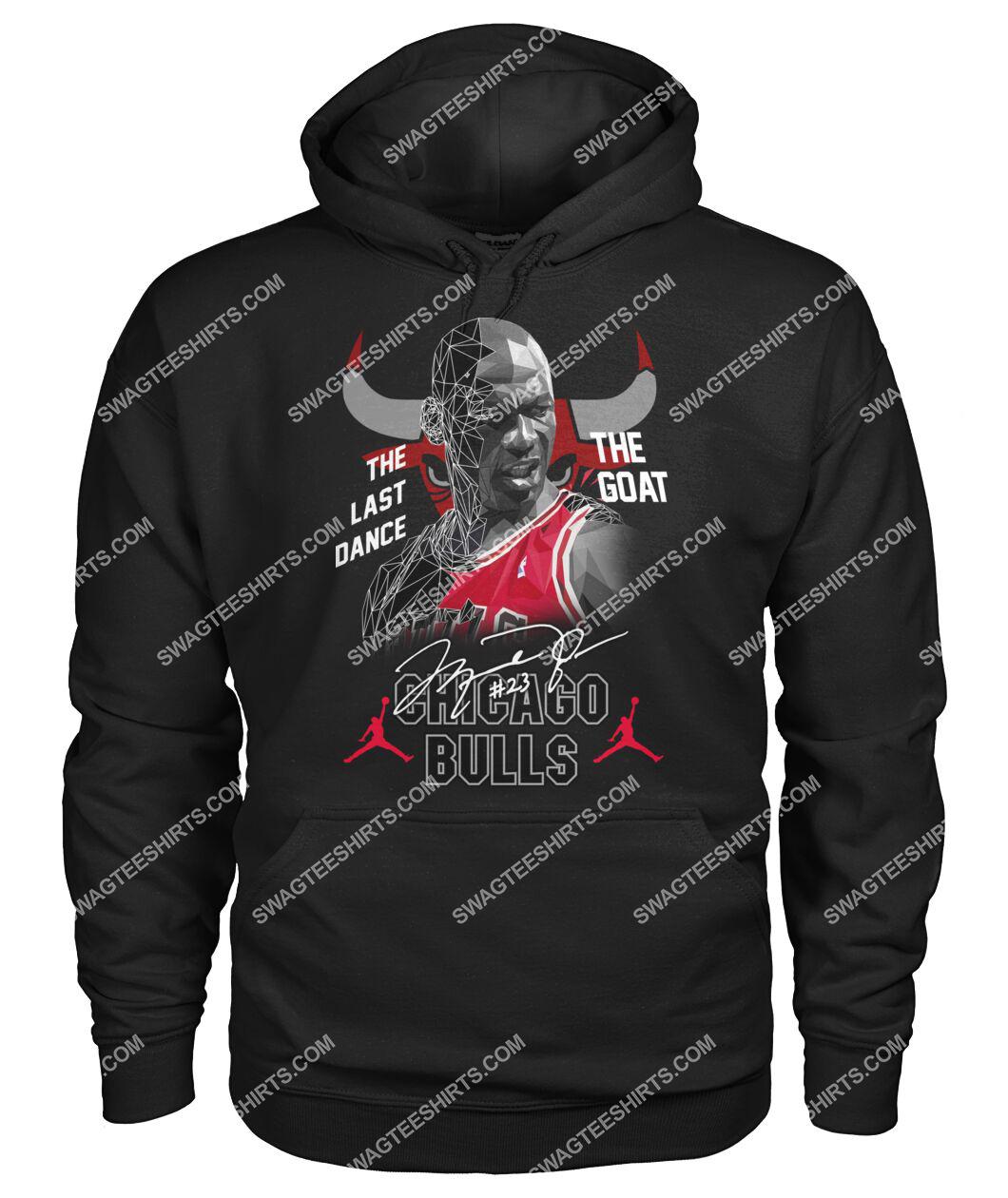 chicago bulls michael jordan the last dance the goat signature hoodie 1