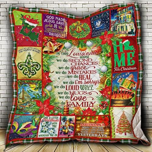 christmas in this louisiana we do second chances we do family quilt 2