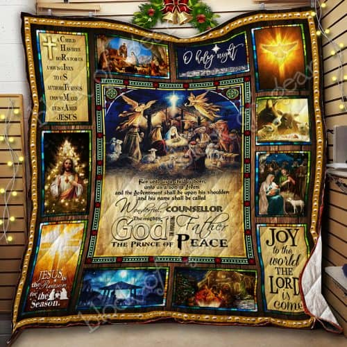 christmas joy to the world the Lord is come Jesus quilt 2